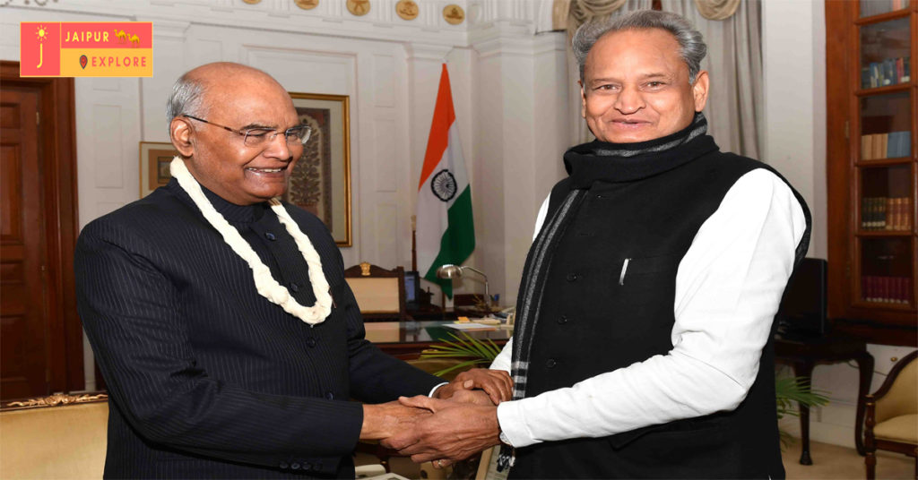 Chief Minister Ashok Gehlot meets President